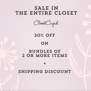 20% OFF on Bundles of 2+ items + shipping discount
